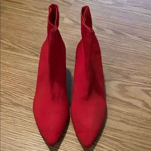 Red Zara Booties